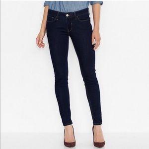 NWT-Levi's 535 dark wash legging jeans